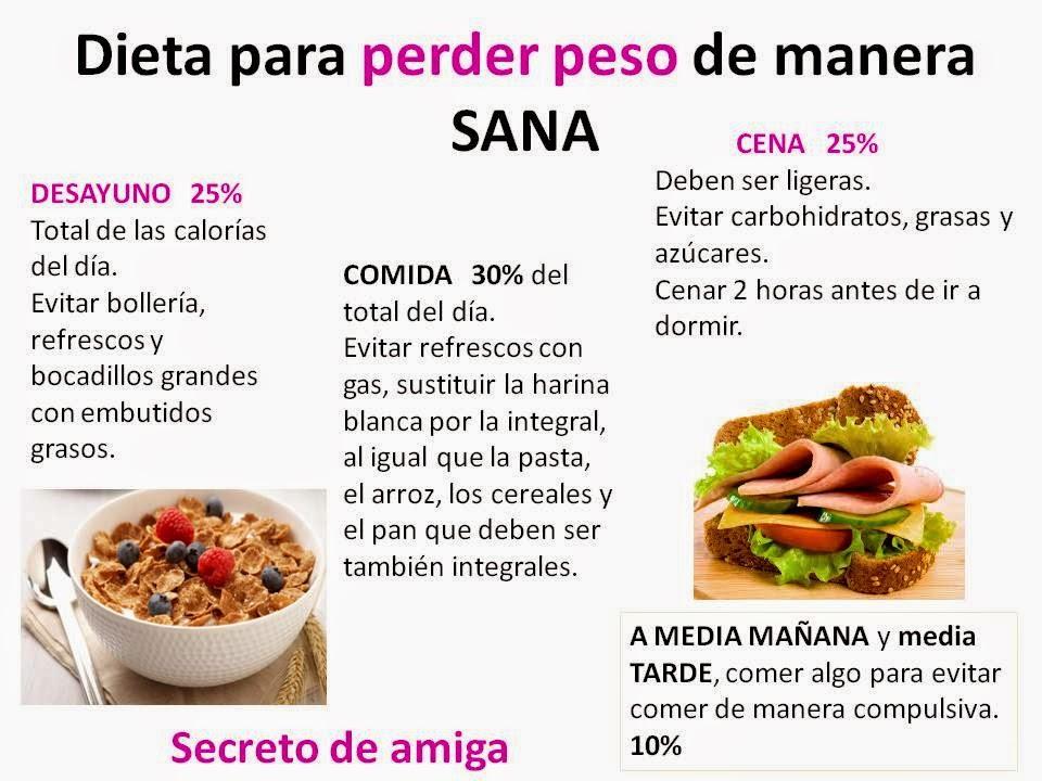 Comidas Sanas Y Saludables Para Bajar De Peso