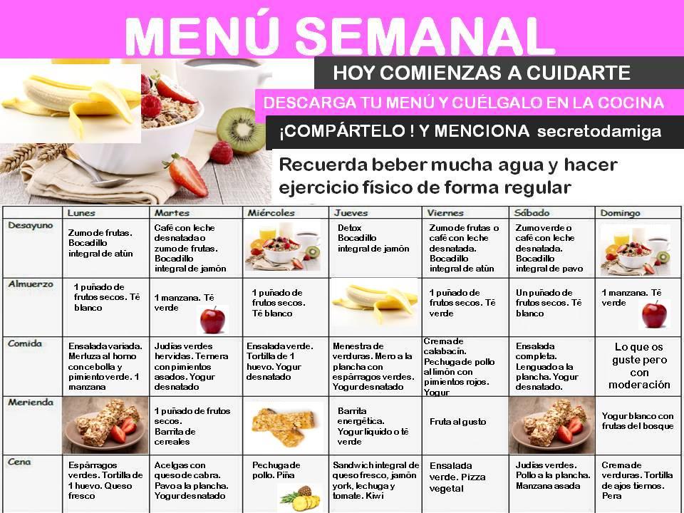 dieta para bajar de peso menu diario